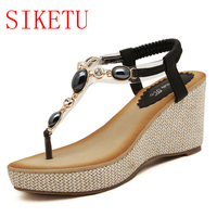 2018 New Arrival Good Beaded Sandals Bohemia Flops Size Shoes Wholesale Trade One Generation 999-1