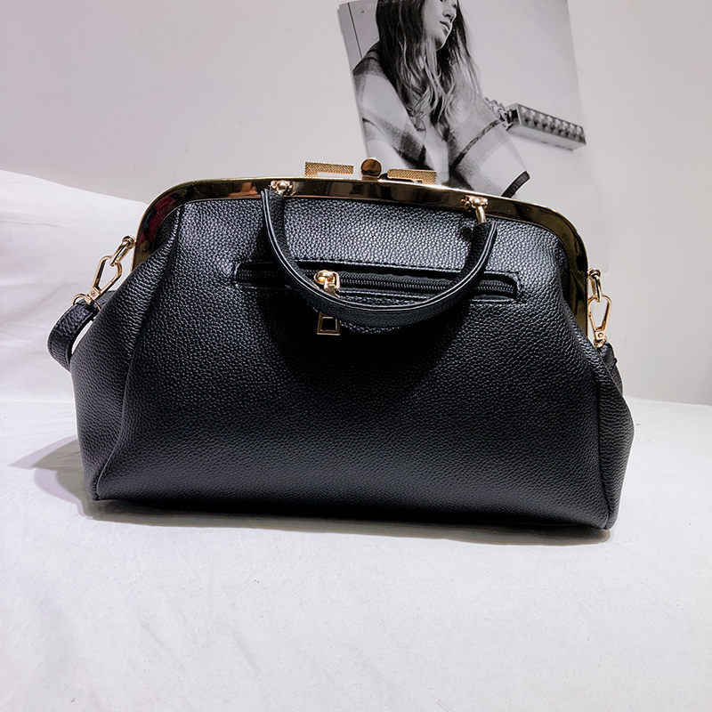 Bolso de piel sintética de moda para mujer bolso de mano de gran capacidad de marca famosa bolsos de hombro elegantes bolsos de cuero de pelo de caballo para mujer