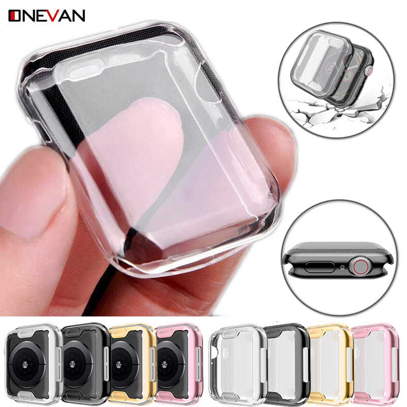 Transparent Cover for Apple Watch Series 5 4 3 2 1 360 Full Soft Clear Screen Protector Case for iWatch 5 4  38MM 42MM 40MM 44MM