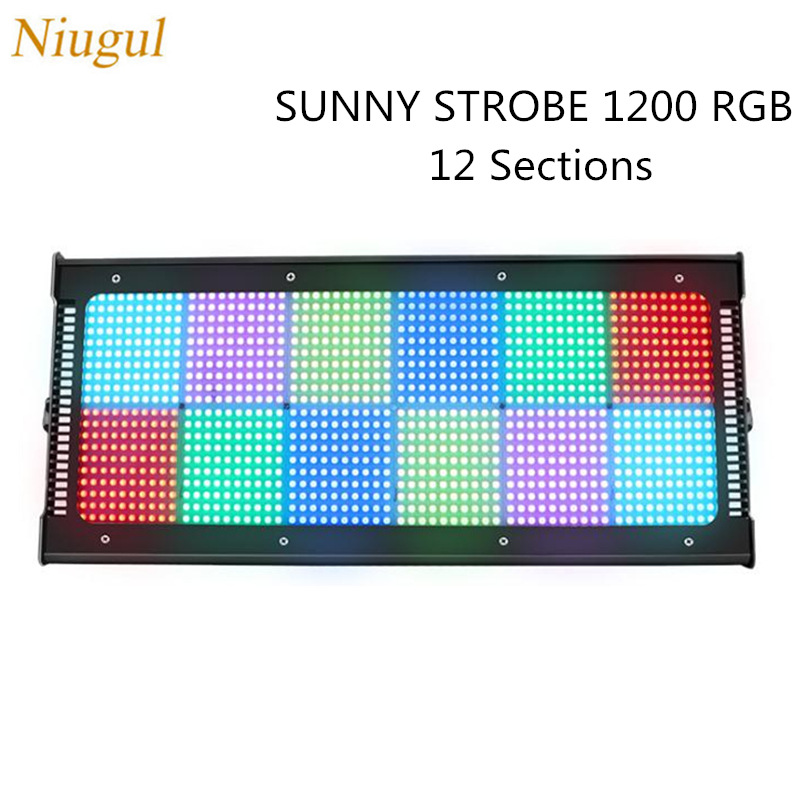 Stage Effect 1200 Leds Strobe Light RGB 3in1 DMX 600W LED Flash Light For DJ Disco Party Exposure Light Bar Nightclub Decoration|Stage Lighting Effect| |  - title=