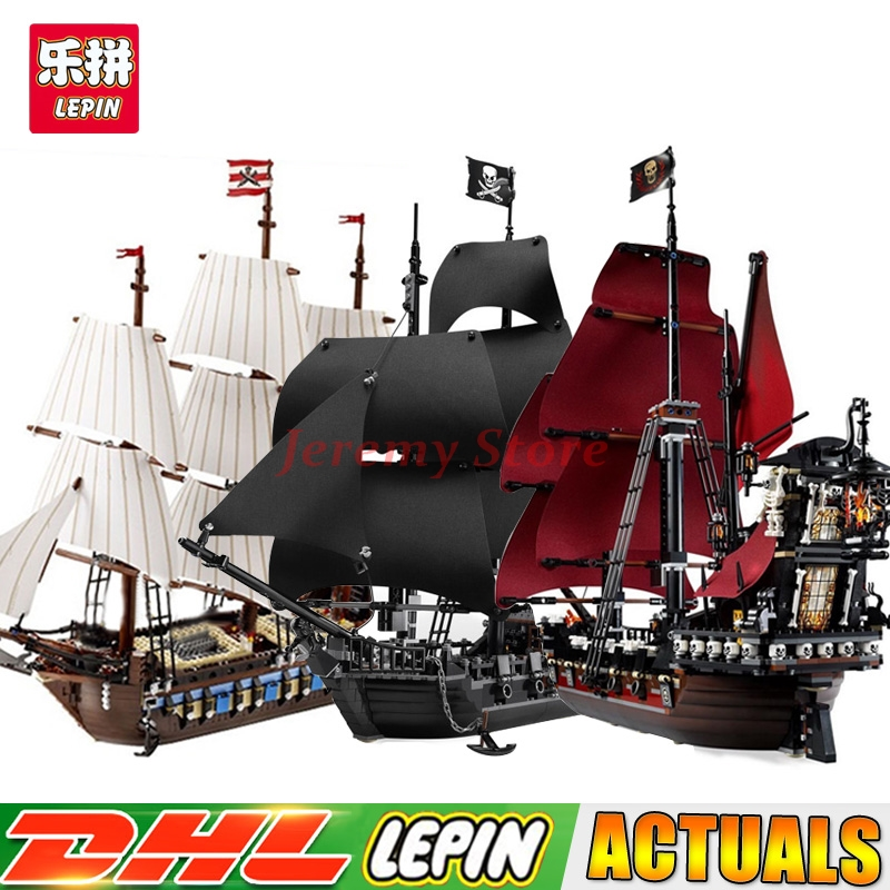 LEPIN 16006 Black Pearl Ship+16009 Queen Anne's Reveage+22001 Imperial Warships Building Kits Block Briks Clone 10210 4184 4195 new lepin 22001 pirate ship imperial warships model building kits block briks toys gift 1717pcs compatible
