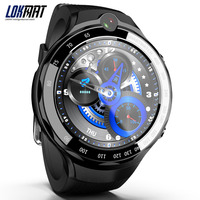 LOKMAT 4 г 5mp + 5mp двойной смарт часы с камерой для мужчин Android 7,1 MTK6739 1 ГБ 16 400*400 AMOLED экран gps Wi Fi Smartwatch для ios