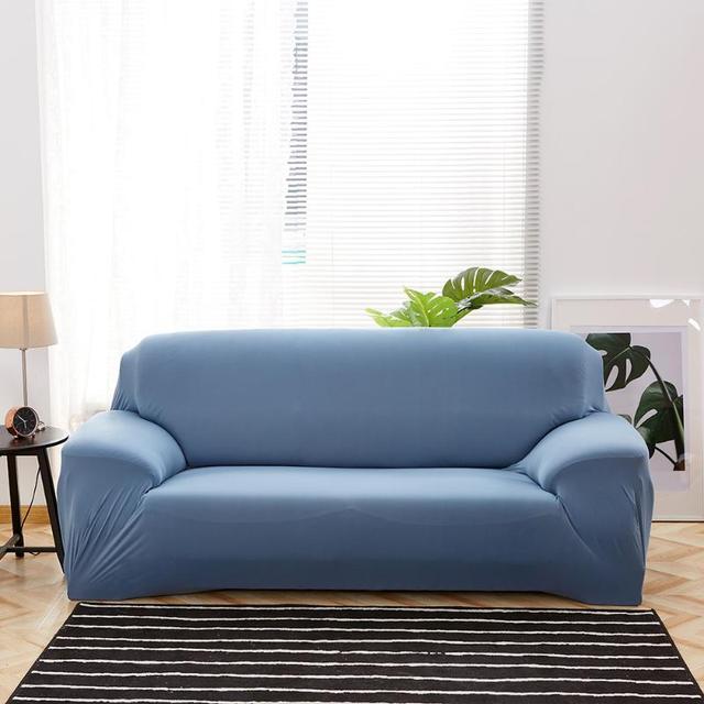 Delgado sólido hecho punto stretch slipcover sofá reclinable Telas ...