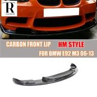 E90 E92 E93 M3 HM Style Carbon Fiber Front Bumper Lip Diffuser for BMW E90 E92 E93 M3 Only 2006 2011