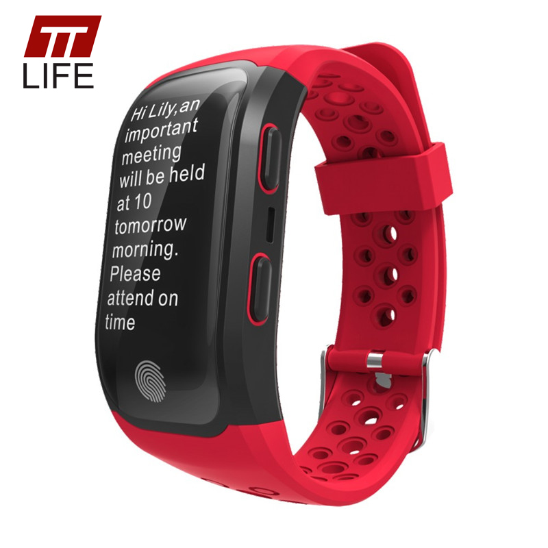 TTLIFE GPS Tracker S908 Smart Watch Pedometer Waterproof Heart Rate Monitor Touch Watch Men Women Smart Bracelet For IOS Android ttlife men gps locator s958 smart watch waterproof women watches fitness tracker call reminder smart bracelet relogio masculino