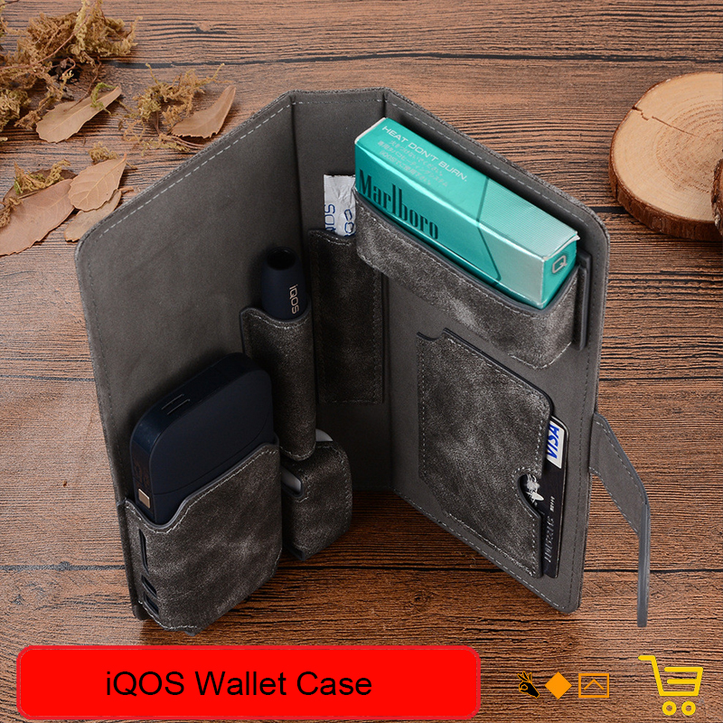 High Quality Pouch Bag Protective Holder Cover iQOS Wallet Case Electronic Cigarette iQOS PU Leather Carrying Case Holder Cover стоимость