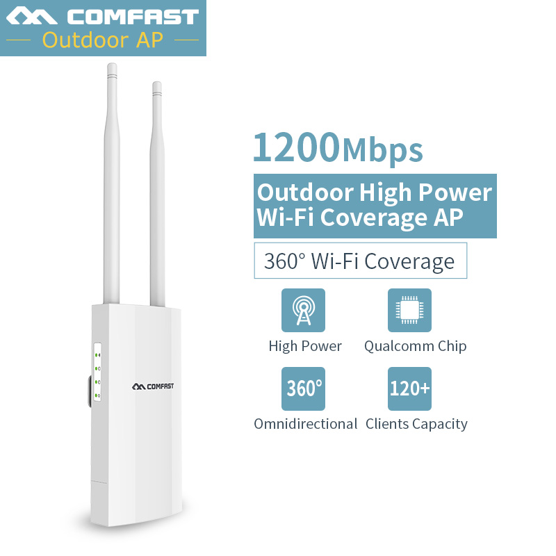 long range Outdoor Wireless Router 1200Mbps Wifi Repeater Wireless WIFI Router/AP/Repeater CPE 5G Dual Band External Antenna POE