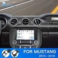Velocidade do ar para Ford Mustang Acessórios 2015 2016 2017 2018 2019 Painel de Instrumentos Do Painel Do Carro De Fibra De Carbono Adesivo Guarnição Interior