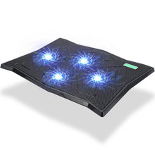 Super Cool Laptop Cooling Pad With Four Fans Game Notebook Radiator Stand LED Light Adjustable Wind Speed K4 for macbook pro
