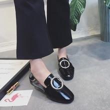 46209f7b02 Sapatos 2018 das mulheres da primavera versão Coreana da fivela sapatos  baixos pequena escola vento bênção sapatos femininos sap.