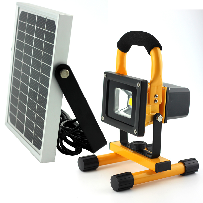 10W solar camping lys LED spotlight LED Outer Light LED Vandring lys solar Emergency Lantern