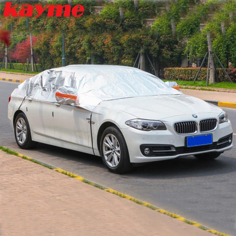 Kayme aluminium halvtäckskydd vattentät bil parasoll solskydd - Exteriör biltillbehör - Foto 5