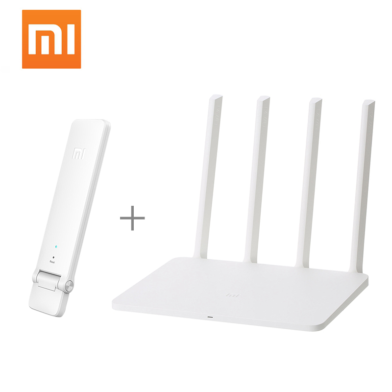 Xiaomi Wi-Fi Repeater USB3.0 Mi-Wifi Wireless Router Dual-Band 5ghz 4-Antennas 1167mbps title=