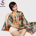 Bufanda de seda paj de seda más el tamaño ampliado bufanda femenina bufanda de seda bufanda de seda de mora de las mujeres