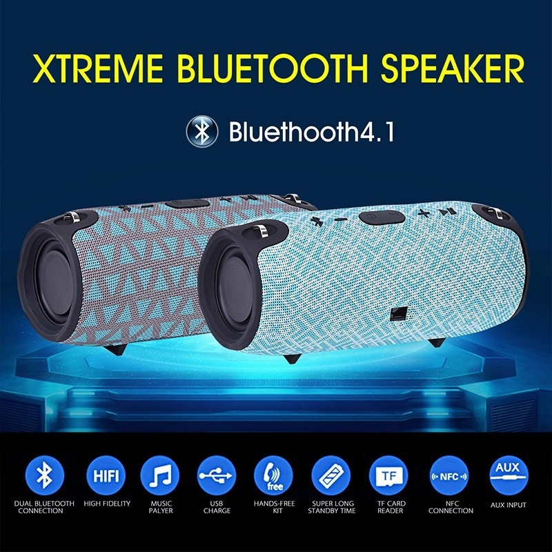 Portable Wireless Bluetooth Speaker  Power Sound Stereo audio box Outdoor sports HIFI Music Speaker with FM TF  LORDZMIX xtreme