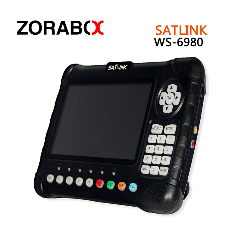 Digital  Satellite Finder SATLINK  WS-6980 Satellite Signal Search Meter DVB-S2/T2/C with Spectrum  Satellite Finder sf 9505a 2 3 digital satellite signal finder meter w compass black