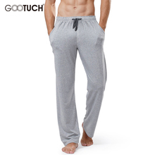 Plus Size Homewear Mens Cotton Sleep Bottoms Man String Loose Pijamas Pants Male Solid Breathable Color Lounge Pants G-2559