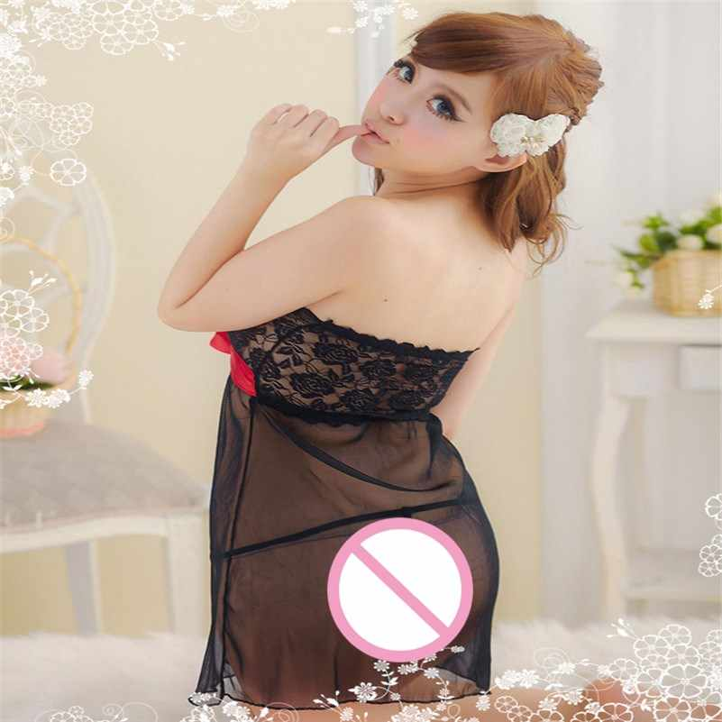Quần Lót Ren Nữ Dây Resin Đồ Ngủ Quần Lót Váy Ngủ Pijama Body Sexy Quyến Rũ Gợi Tình Porno Nữ Feminina Đầm Ngủ # D