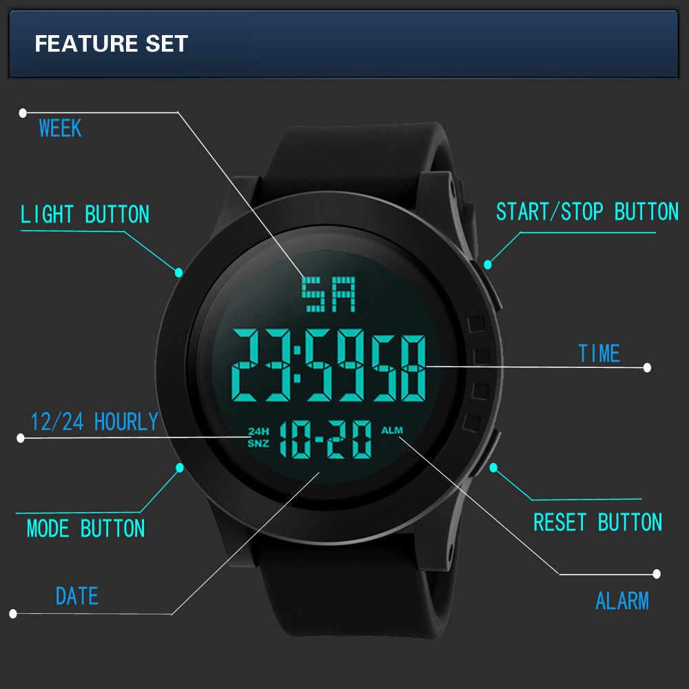 Moda led à prova dwaterproof água digital quartzo militar luxo esporte data relógios relógio eletrônico digital moda gif masculino