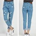 Hole Women Jeans Spring Autumn Fashion Boyfriend Jeans For Woman Loose Size Hole Denim Pants Vintage High Waist Jeans Femme