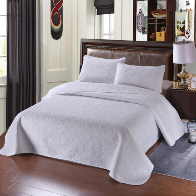 230X260cm White black Rose Red Blue luxury European Style 100 Cotton Bedspread Pillowcases Bed Sheet Bed