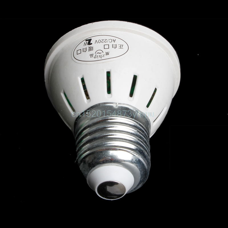 Durable 38 LED Plant Grow Light AC 220V 2W E27 Plant Growth Aquarium 640K 5*5.5cm 80LM New YX #L057# new hot