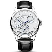 Fashion Automatic Watch Men Switzerland CARNIVAL Multi function Mechanical Watch Calendar Sapphire Leather band Luminous Watches Mechanical Watches