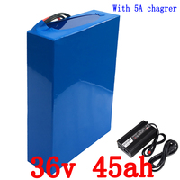 36V Scooter lithium battery 36V 1000W 1500W battery 36V 45AH electric bike battery 36V 45AH lithium ion battery pack+5A charger