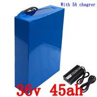 36 В скутер литиевая батарея 36 В 1000 Вт 1500 Вт батарея 36 В 45AH электрический велосипед батареи 36 В 45AH литий ионный аккумулятор + 5A зарядное устрой