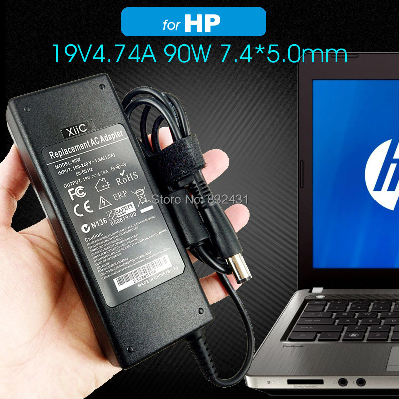 19V 4.74A 7.45.0mm adapter for HP 1