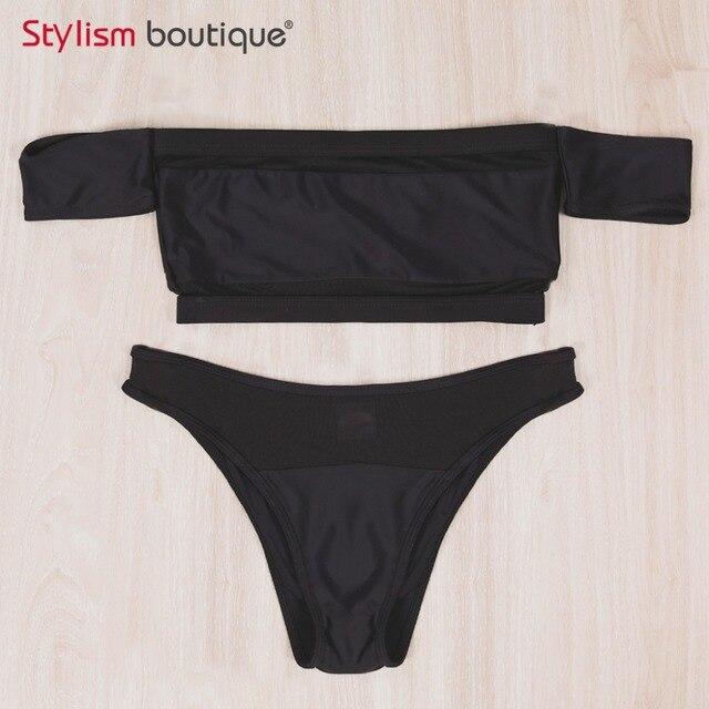 Hot Off Shoulder Bikini Set 6