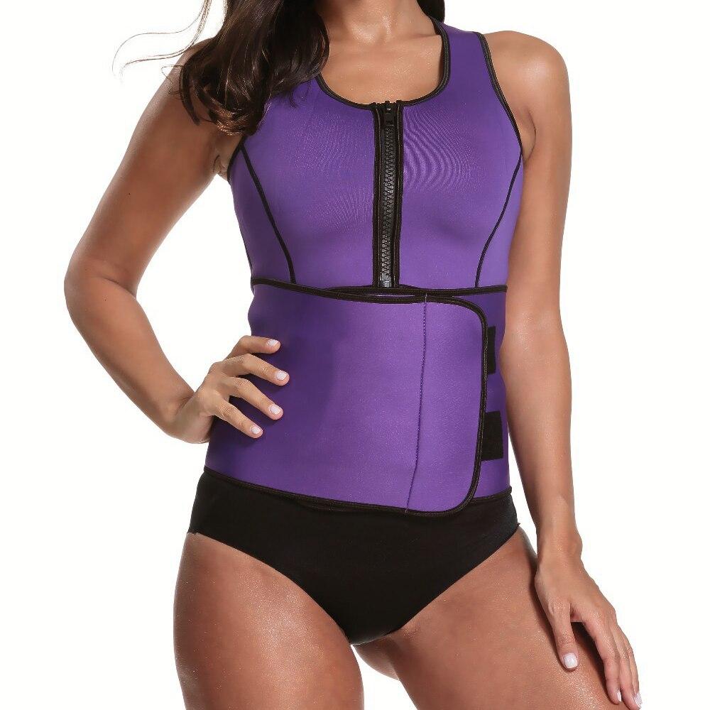 Neoprene Sauna Body Shaper Vest Slimming Waist Trainer Shaper Workout Shapewear Hot Adjustable Sweat Belt Corset Tummy Control