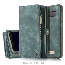 CaseMe Zipper Wallet Leather Case For iPhone 6 6s Plus 7 7 Plus Samsung S8 Plus S7 Edge Retro Vintage Matte Skin Pouch 1pcs