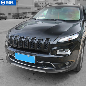 Image 5 - MOPAI Car Exterior Accessories ABS 3D Front Insert Grill Cover Decoration Frame Stickers For Jeep Cherokee 2014 Up Car Styling