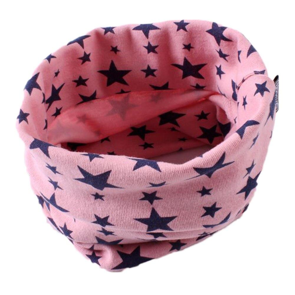 Aktiv 7 Farben Kinder Baby Schal Sterne Lassen O-ring Baumwolle Schal Hals Wärmer Unisex Winter Stricken Sterne Kragen