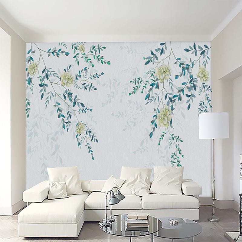 Customization Mural Wallpaper 3D Non Woven Wallpaper Modern Simple Leaves Wall Mural For Living Room Bedroom Home Decoration 0 53x10m modern blue gray green simple non woven wallpaper living room bedroom wedding room shop decoration wallpaper