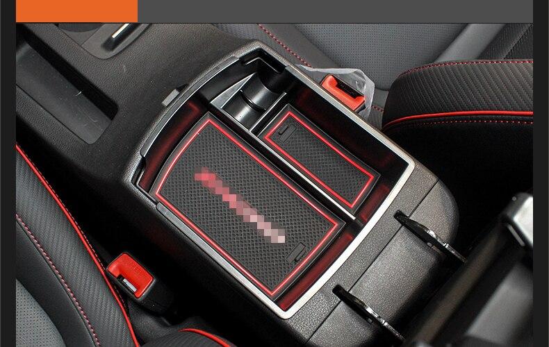 Interior Armrest Storage Box Organizer Holder 1pcs For Nissan Kicks 2016-2018