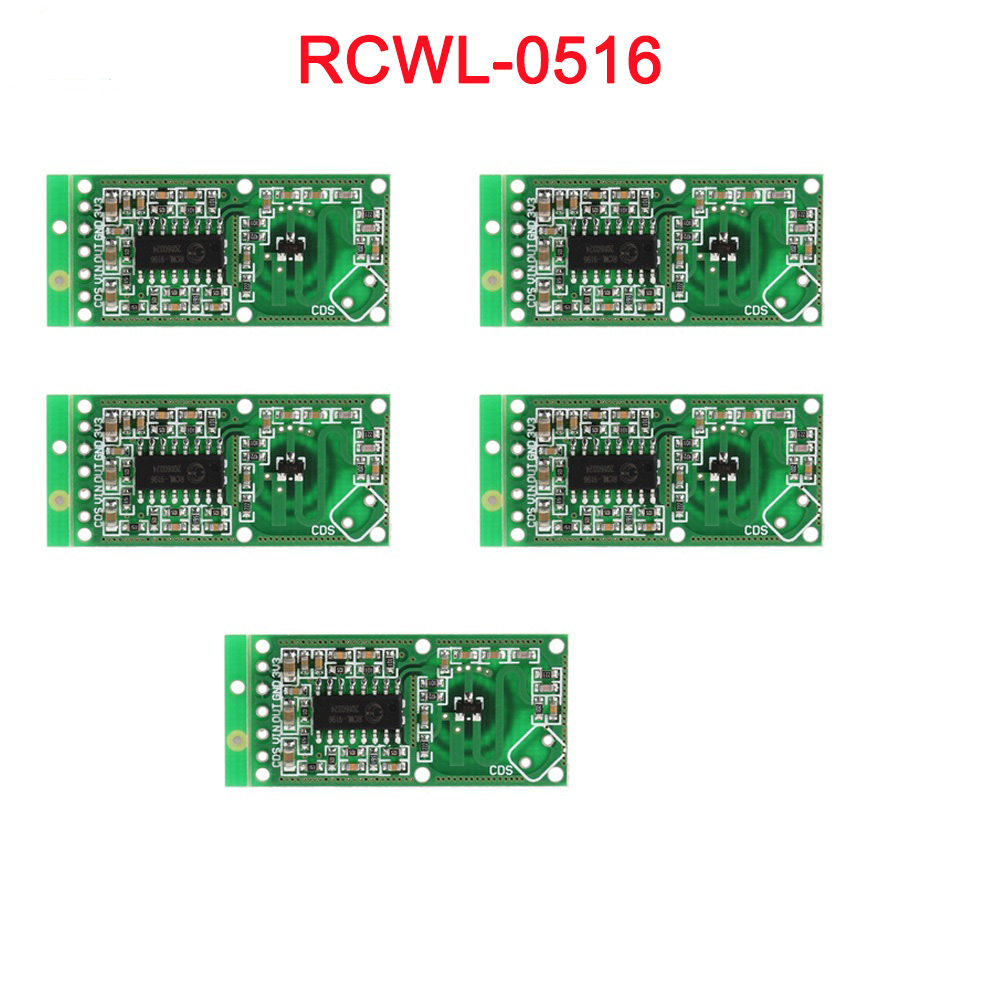 5pcs/lot RCWL-0516 Microwave Doppler Radar Sensor Switch Module Human Induction Board Detector For Arduino RCmall