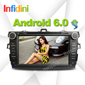 Android 4.4 dvd-плеер автомобиля для Toyota corolla 2007 2008 2009 2010 2011 в тире 2 din 1024*600 автомобиля dvd gps навигация в тире