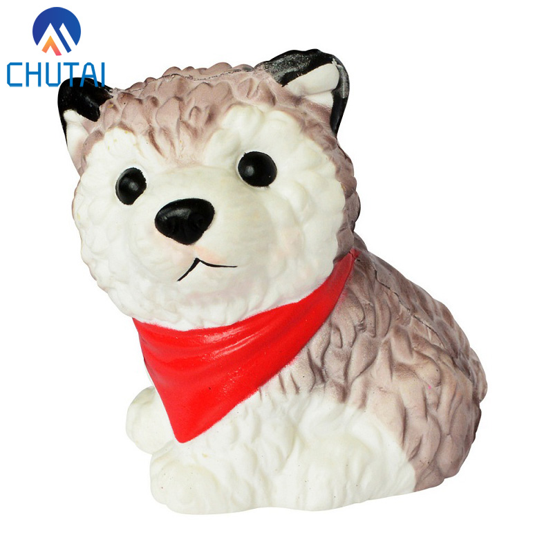 Random Color Jumbo Simulation Husky Squishy Scented Soft PU Slow Rising Stress Relief Toy Kids Grownups Squeeze Toys 11*9 CM