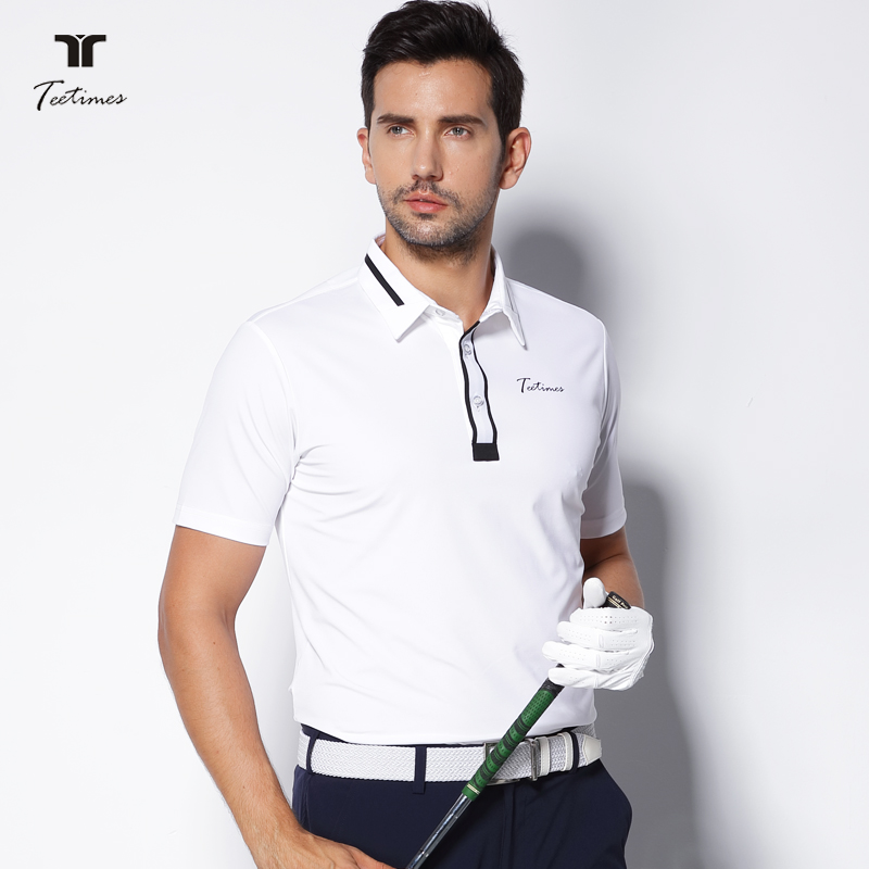 Teetimes New Arrival Men Golf Polo Shirts Quick Dry Breathable Male T-shirt Short Sleeved Outdoor Sports Golf Apparel