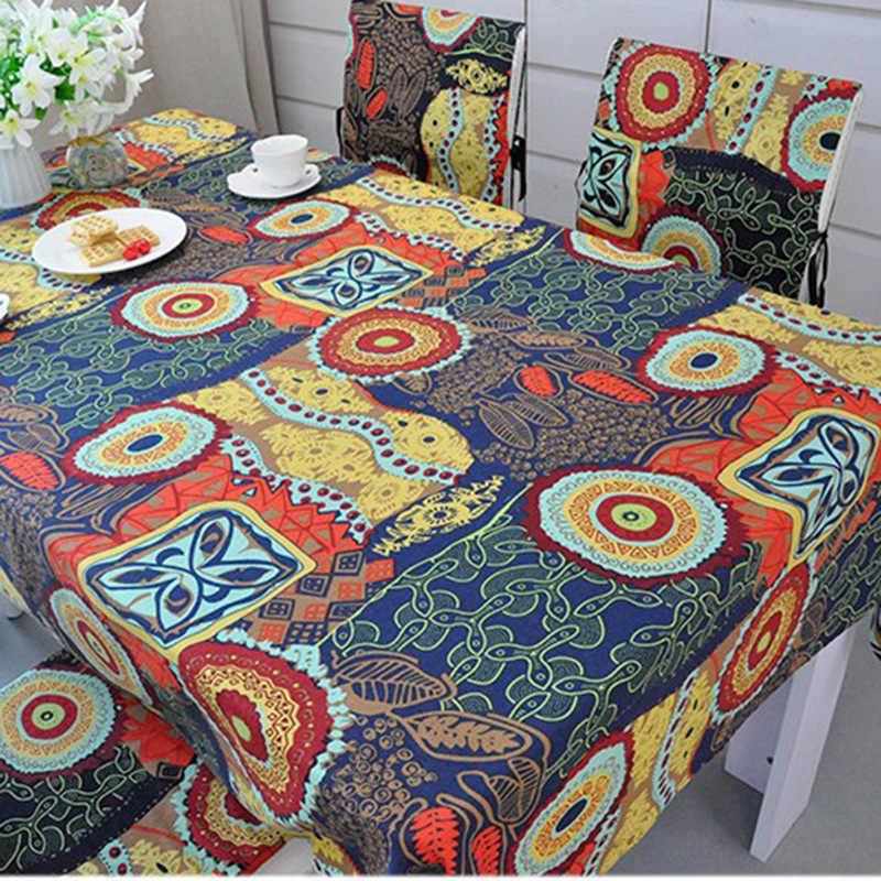 Льняная скатерть, традиционная толстая хлопчатобумажная скатерти прямоугольные грязестойкие кофейная скатерть, обеденный стол, Классический секретный стол