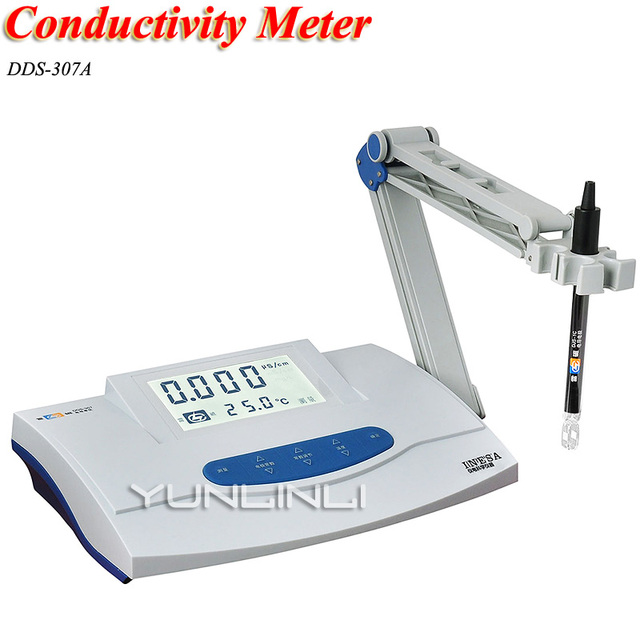 Conductivity Meter Desktop LCD Digital Display Conductivity Meter Laboratory DDS-307A