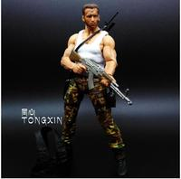 NECA Movie 25th Predator Alien Arnold Schwarzenegger Patrol Dutch Extraction Dutch Jungle Hunter 18cm Toy PVC Figure Model S108