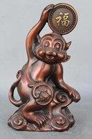 8Chinese red copper Zodiac monkey money animal Monkey statue
