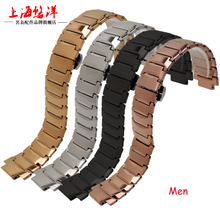 21*12mm 14*7mm Tungsten Steel Convex Mouth Bracelets Push-Button Hiden Clasp Watch Bands for Rado 6021 Man Woman Watch Straps