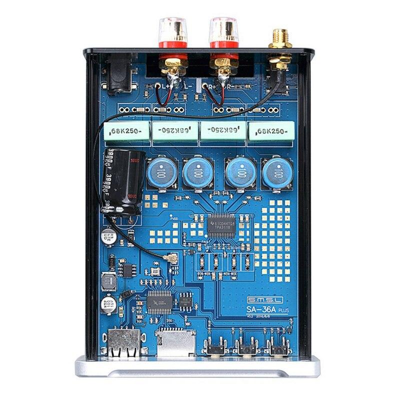 SMSL SA 36A Plus HIFI Audio di Classe D Amplificatore 30W * 2 TPA3118 Amplificatore di Potenza Digitale Bluetooth AUX carta di TF /USB/U Disco di Ingresso - 4