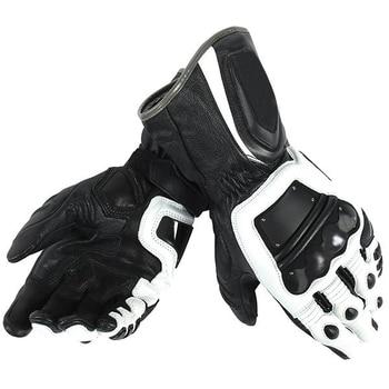 4 Stroke SCP Gloves Motorcycle Motocross Men's Racing Dain Leather Gloves Black/White