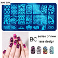 Nail art Stamping Plate Lace Steel Nail Seal Manicure Polaco Printer Tool stamping transparent Nail Stamp Patterns Stainless