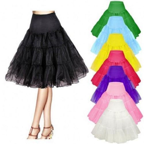 Retro Underskirt 50s Swing Vintage Petticoat Rockabilly Tutu Fancy Net Skirt Pleated Skirt  Harajuku  Mini Skirt